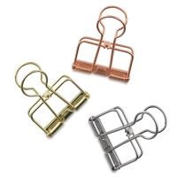 Binder Clips, Hollow Medium, Pkg of 3