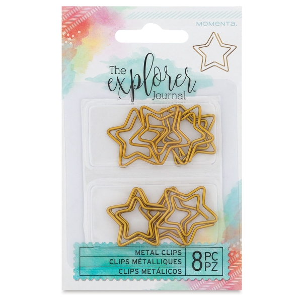 Clips, Gold Star, Pkg of 8
