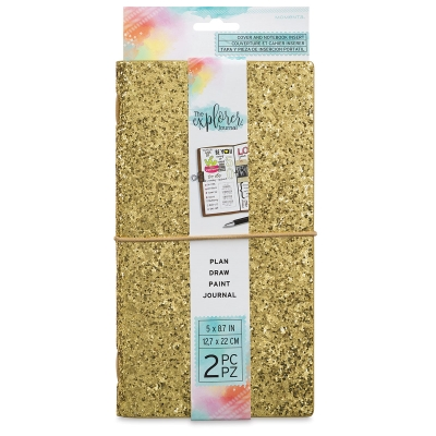 Gold Chunky Glitter Journal