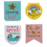 Magnetic Clips, Unicorn, Pkg of 4