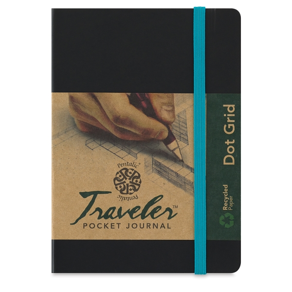 Traveler Grid Pocket Journal, 160 Pages