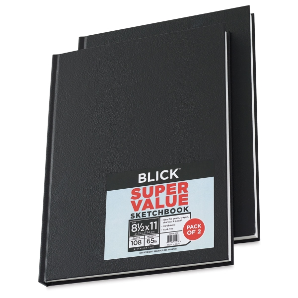 Blick Super Value Hardbound Sketchbook 2-Pack
