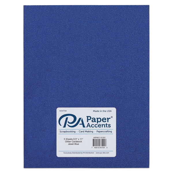 Glitter Cardstock, Pkg of 5 Sheets