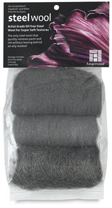 Ampsteel Artist-Grade Oil-Free Steel Wool, Pkg of 3