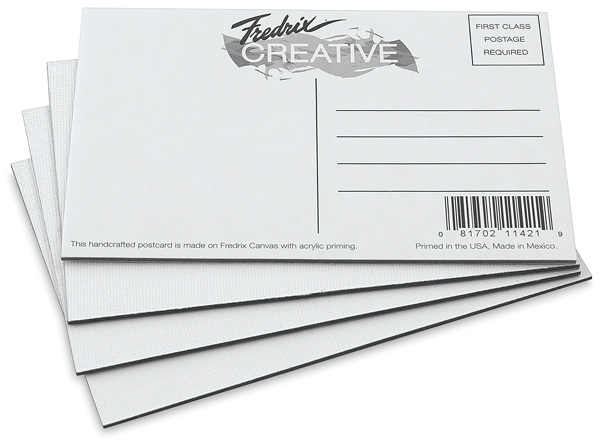 Canvas Postcards, White