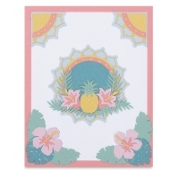 Tropical Element Dies, Set of 15 (Finished Example)