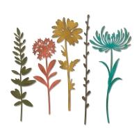 Wildflower Stems #1 Dies, Set of 5