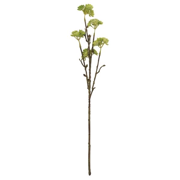 Tall Faux Succulent Branch, Mini Echeveria Rosettes