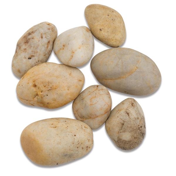 River Rocks, White