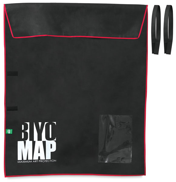 "BIYOMAP Art Protection Case, 35"" x 43"" w/ Red Border"