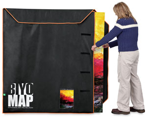 "BIYOMAP Art Protection Case, 55"" x 63"" w/ Orange Border"