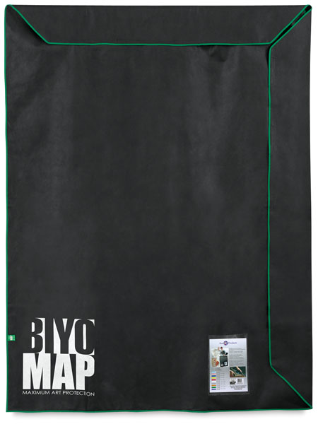 "BIYOMAP Art Protection Case, 63"" x 82"" w/ Green Border"