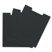 Black Open Top Sleeve, Pkg of 3
