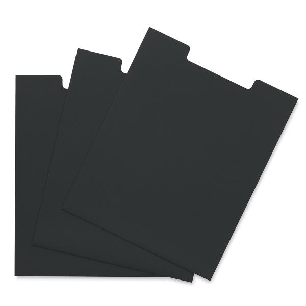 Black Open Top Sleeve, Pkg of 3