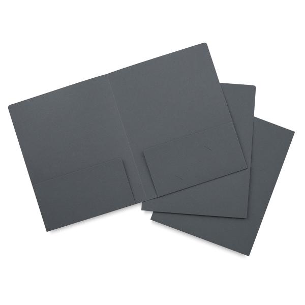 Dark Gray Folder, Pkg of 3