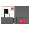Dark Gray Two-pocket Folder, Pkg of 3, Example of Use
