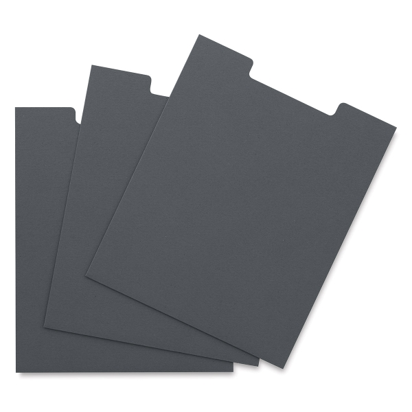 Dark Gray Open Top Sleeve, Pkg of 3