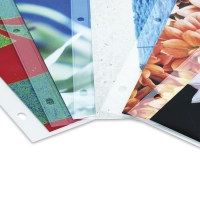 Sheet Protectors shown with sample artwork