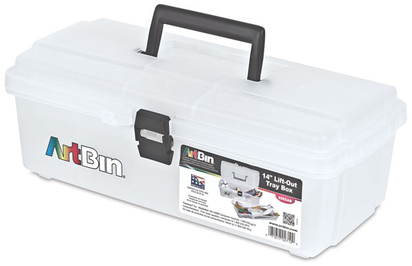 """Translucent Lift-Out Tray Box, 14"""""""