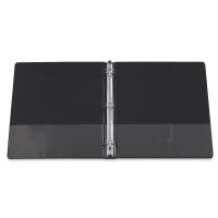 Economy Round Ring View Binder, Black