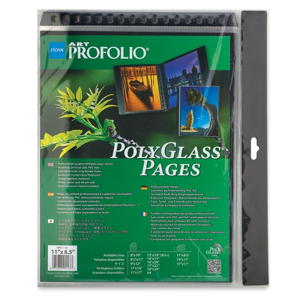 "PolyGlass Refill Pages, Pkg of 10 (Above Example is Landscape, 8-1/2"" x 11"""