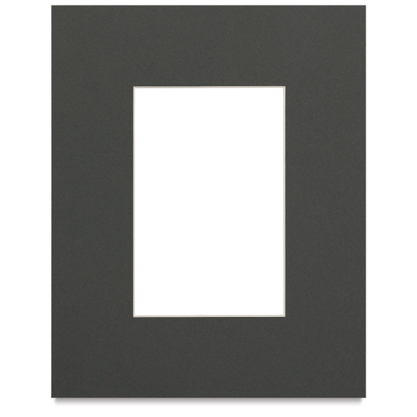 """White Core Pre-Cut Mat, Cinder, 8"""" x 10"""""""