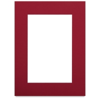 "White Core Pre-Cut Mat, Deep Red, 9"" x 12"""