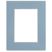 "White Core Pre-Cut Mat, Biscay Blue, 8"" x 10"""