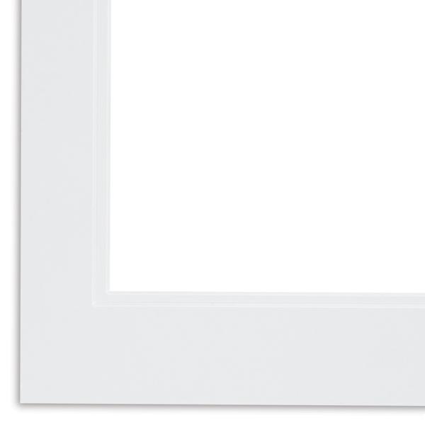 Pre-Cut Double Mat, Vivid White w/Vivid White
