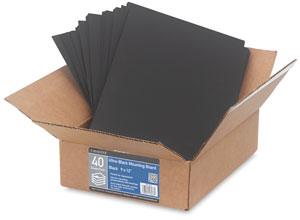 Ultra-Black Mounting Board, Pkg of 40