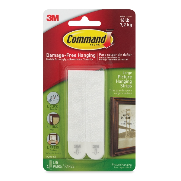 3m Command Picture Hanging Strips Blick Art Materials