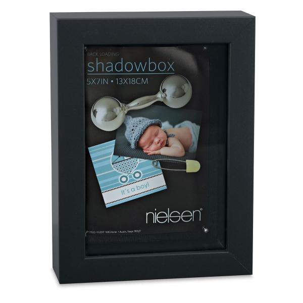 "Shadow Box Frame, Black, 5"" x 7"""