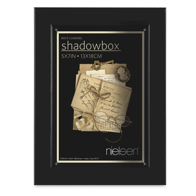 "shadowbox Frame, Black, 5"" x 7"""