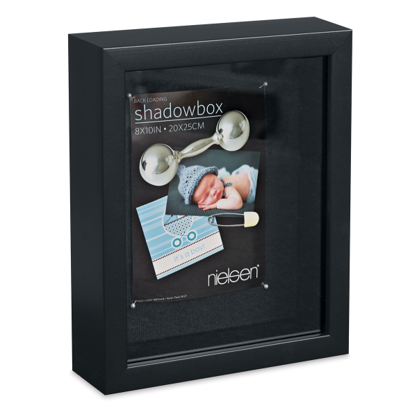 "Shadow Box Frame, Black, 8"" x 10"""