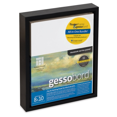 "Floater Frame and Panel Kit, Black, 8"" x 10"""
