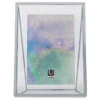 """Umbra Wedge Frame, Chrome, 5"""" × 7"""" (view from back of frame)"""
