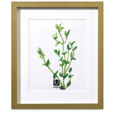 "Umbra Gallery Frame, Brass, 12"" x 14"""