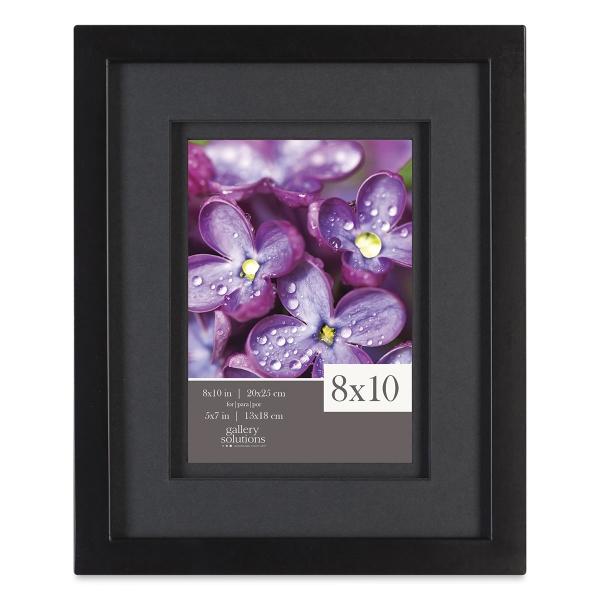 Gallery Airfloat Wood Frame, Black w/Black Mat
