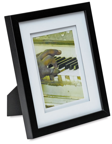 Gallery Airfloat Wood Frame, Black w/ White Mat