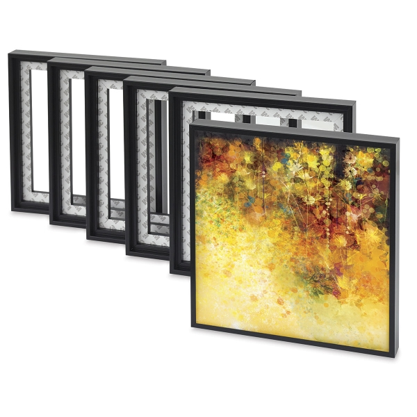 "Floater Frames, Pack of 6, 8"" x 8"" (sample artwork shown)"