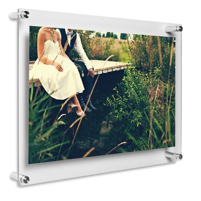 "Double Panel Frame, Silver Hardware, 15"" x 18"