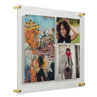 Single Panel Frame, Gold Hardware