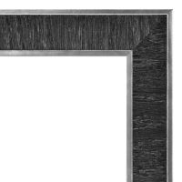 Estonian Document Frame, Black w/Silver, Example of Detail
