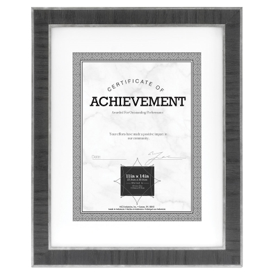 "Estonian Document Frame, Black w/Silver, 8-1/2"" x 11"""