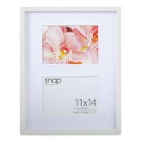 "Snap Gallery Frame, White, 11"" x 14"" w/ two 5"" x 7"" openings"