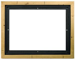 """Floater Frame, Gold Leaf w/Black, 7/8"""" Depth"""
