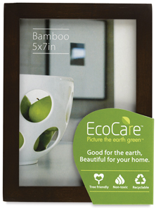EcoCare Frame w/ Easel Back, Mocha Bamboo