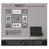 Black, 9 Piece Set w/Floater Frames