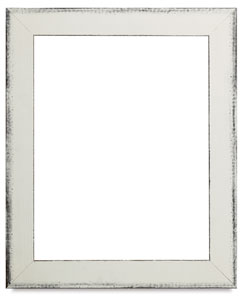 Sierra Wood Frame, Aged White