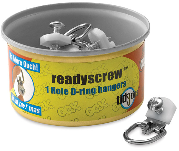 Tidy Tin of 10 Hangers, 1 Hole